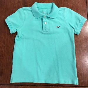 Vineyard Vines turquoise polo shirt Boys
